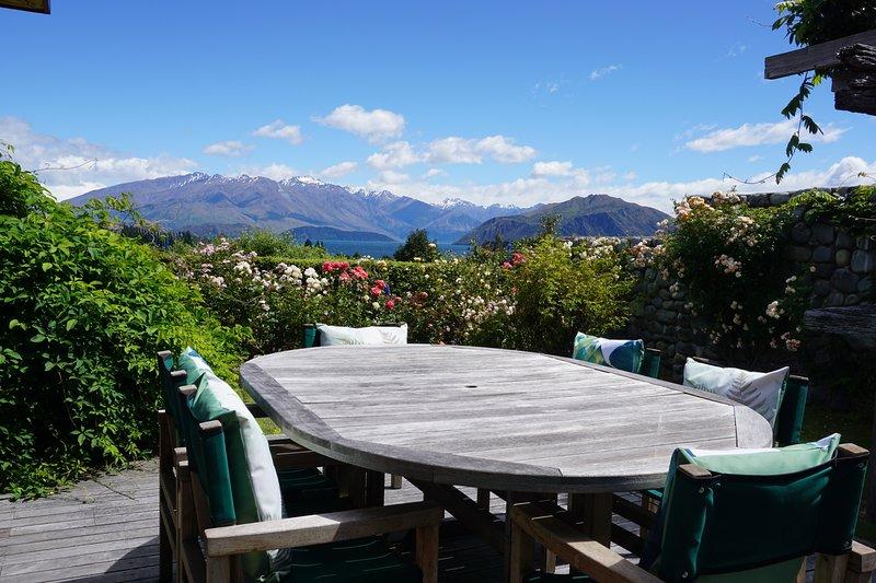 Rilascio Wanaka - Bullock Creek Chalet, salotto esterno, privato e appartato con vista