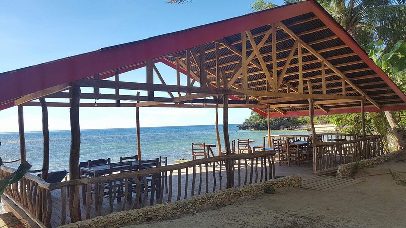Relaxing area and dining in the beach