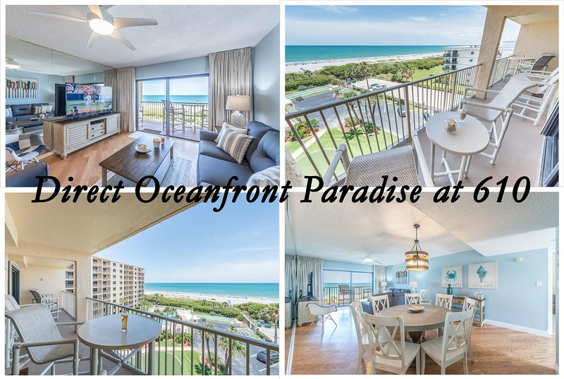 Brand new direct ocean front #610 is the perfect beachhouse for your vacation!