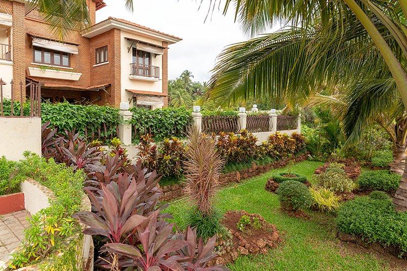 Área de jardim com vista exterior