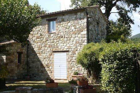 Todi, casa vacanze. Torreluca, casale in pietra, panoramico, con piscina, alquiler vacacional en Quadro