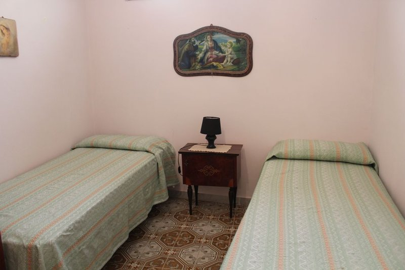 room with two beds pushed together