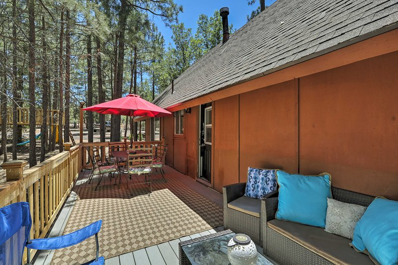 With a furnished deck and beds for 12, this home can't be beaten!