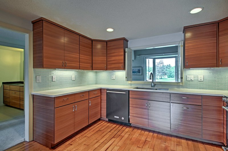 You'll have ample counter space and high-end appliances for meal prep.