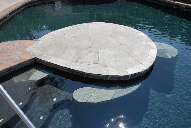 Turtle-förmigen Plattform im Pool