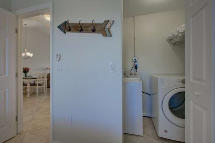 Full size and Free to use washer and dryer for your convenience in the 3rd bedroom closet.