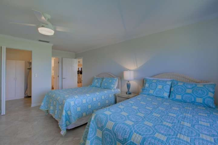 2nd bedroom has a walk-in closet and two full size beds.  42' flatscreen for nightime viewing.