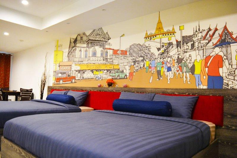 Spacious 4pax, 5 mins BTS, Free WIFI, Near Silom, holiday rental in Phra Pradaeng