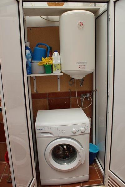 Washing machine and electric boiler.