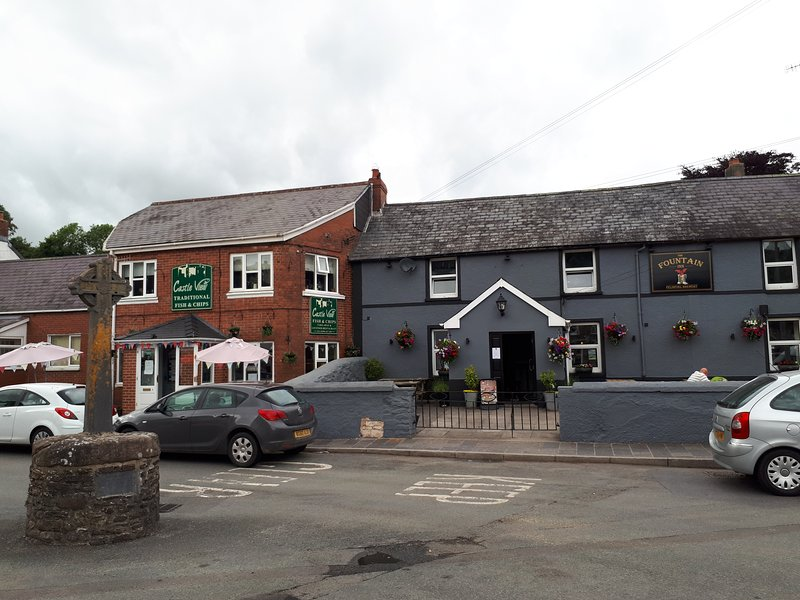 The Fountain Inn on the square.