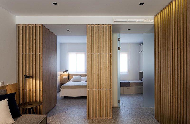 Vista de los dormitorios