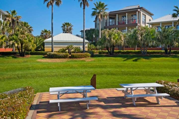 Bring along a picnic lunch and enjoy your time with family and friends around The Lagoon Pool.