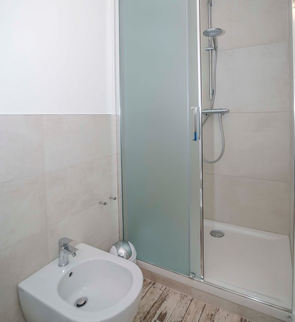 Bathroom of the double room with shower