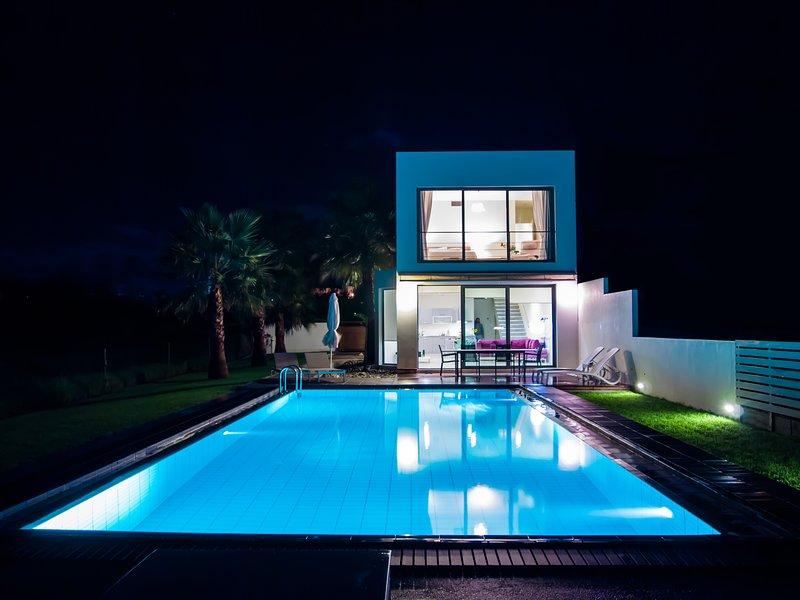 Blue Sea Luxury Villa by night