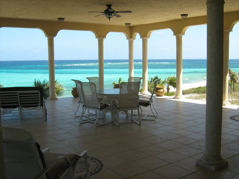 2000 SQUARE FOOT PATIO ON REAR OF  HOUSE OVERLOOKING THE OCEAN