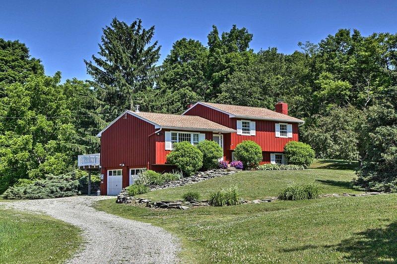 The Summer Fox Farm Guesthouse sits on a working horse farm.