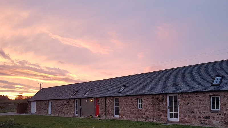 Stunning sunset over Bankhead Holiday Cottage