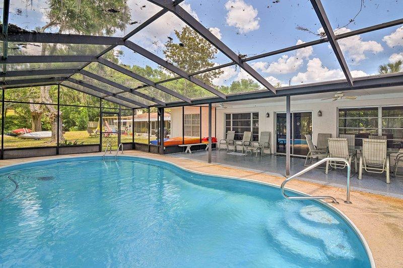Una fuga in Florida vi attende al 'Dos Rios,' una casa di vacanza in affitto Dunnellon!