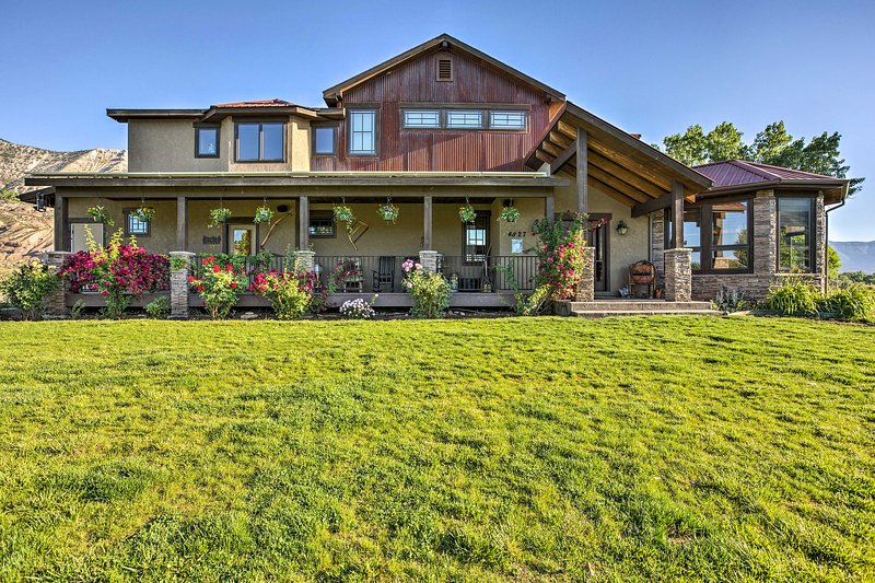 Escape to this oasis on the river to stay at this vacation rental house!