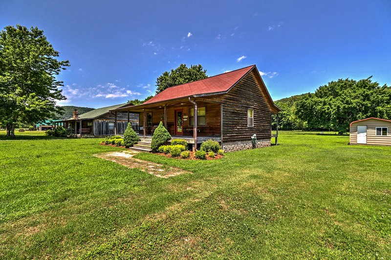 When you stay at this cabin you're close to amazing fishing, hunting, & relaxing.