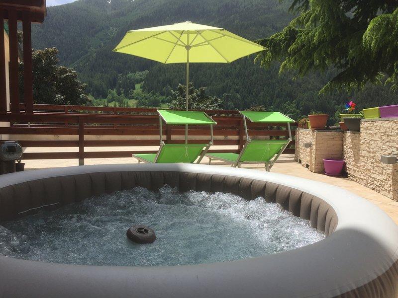 solarium avec piscine bain appartement
