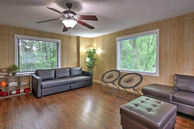 Escaparse para alojarse en este casa de vacaciones Stevensville.