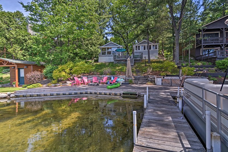 Kayak, swim, boat, or fish off the side of the large private dock!