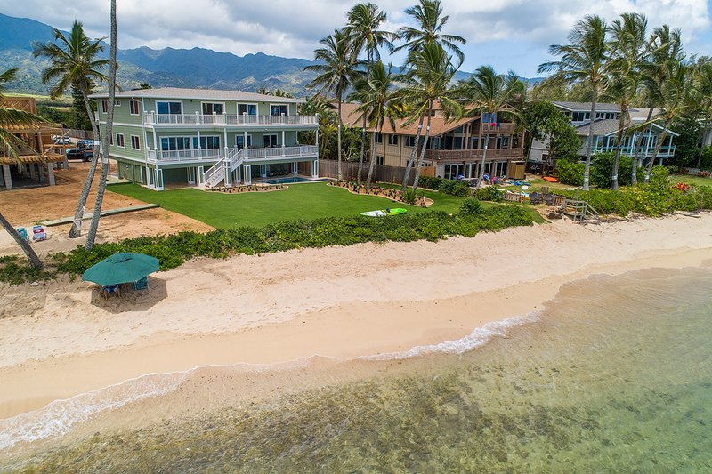 Sandy beach view to the home