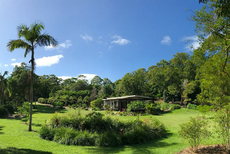The Lily Pad at Byron is surrounded by lush tropical gardens.