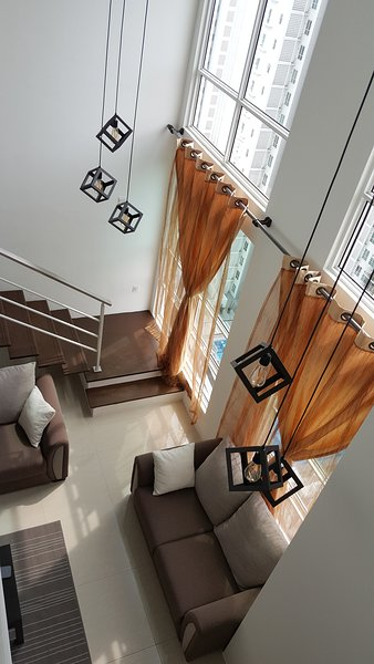 High ceiling living hall