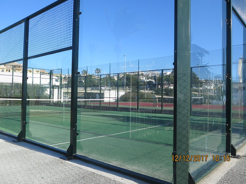Paddle court in the urbanization.