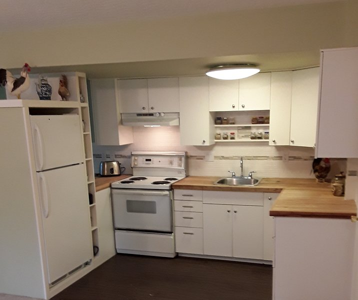 self contained kitchen with everything you need.