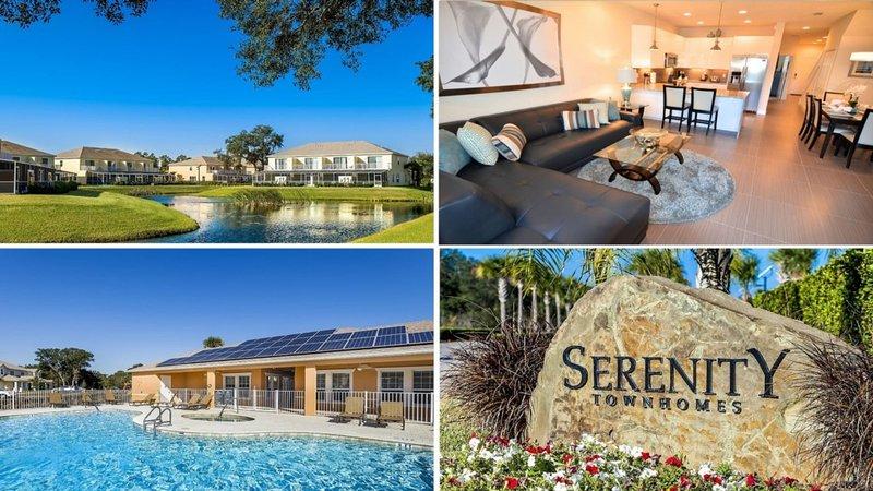 Elegante casa adosada de 3 habitaciones / 3 baños con piscina de chapoteo en el resort Serenity, a 10 millas de Disney.