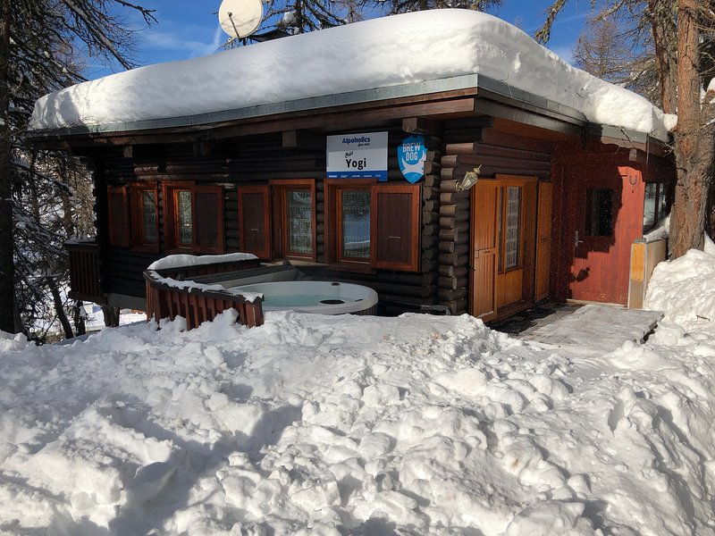 The most Ski In Ski Out Chalet you'll find!  Complete with Hot Tub & Pool Table!