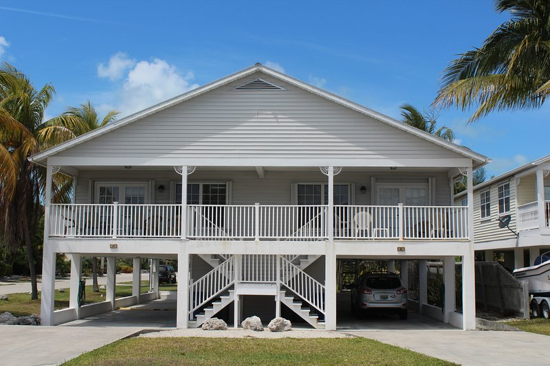 Our full ocean view duplex is located 200 feet from the Ocean. Each side sleeps 6.
