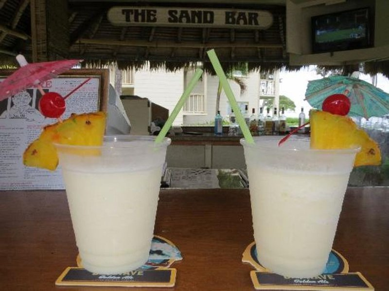 Drinks from the Sand Bar poolside!