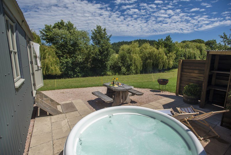 River views from your own private Hot Tub