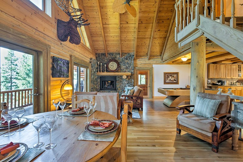 Stay and play in Incline Village when you book this spacious log cabin!