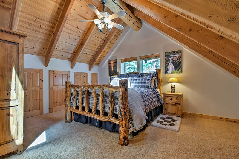 Claim the Mt. Rose master suite as your sleeping sanctuary.