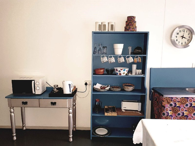 cute kitchenette with gas stove