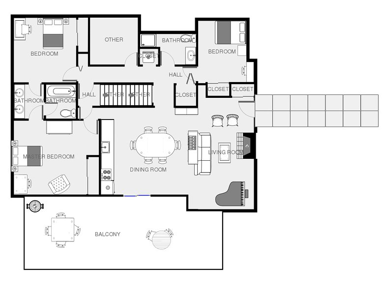Mid floor suite layout