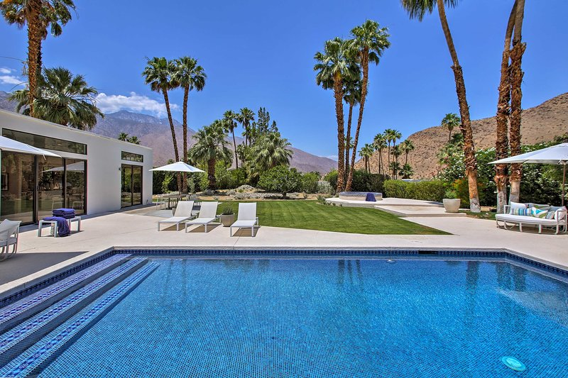 Paradise awaits you at this extraordinary Palm Springs vacation rental.