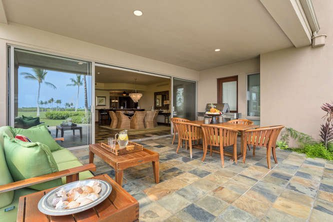 View from Lanai into Great Room