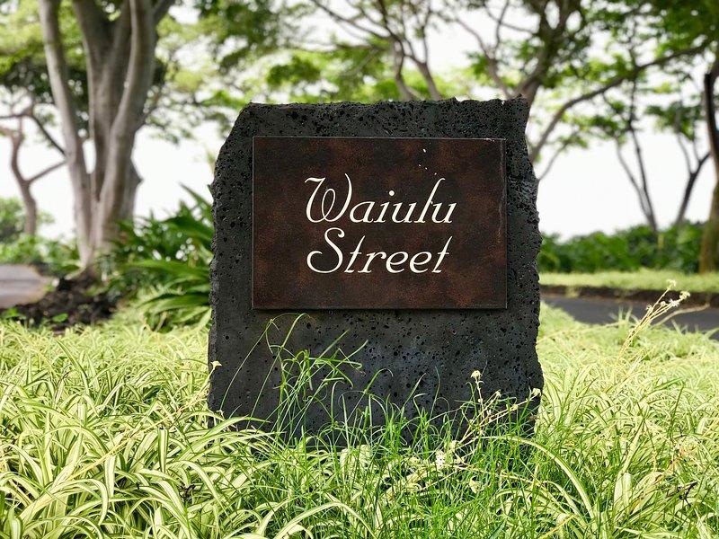 Street Sign to Wai'ulu Street, Home to Fairway Villas