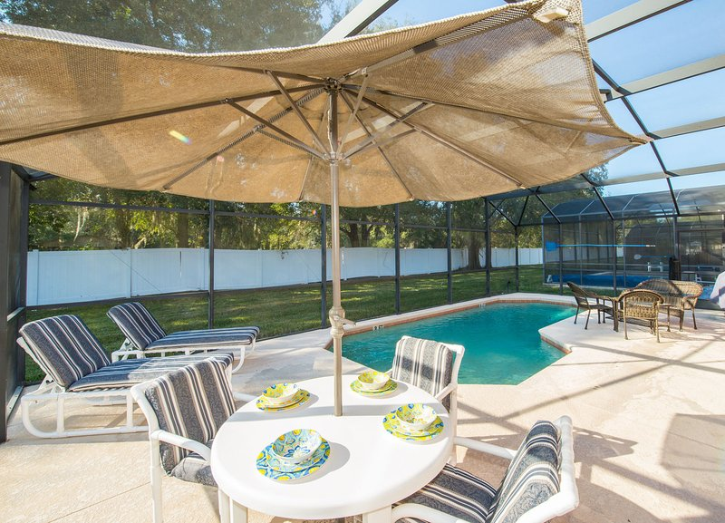 Enjoy the sunshine with this gorgeous, South-West facing private pool