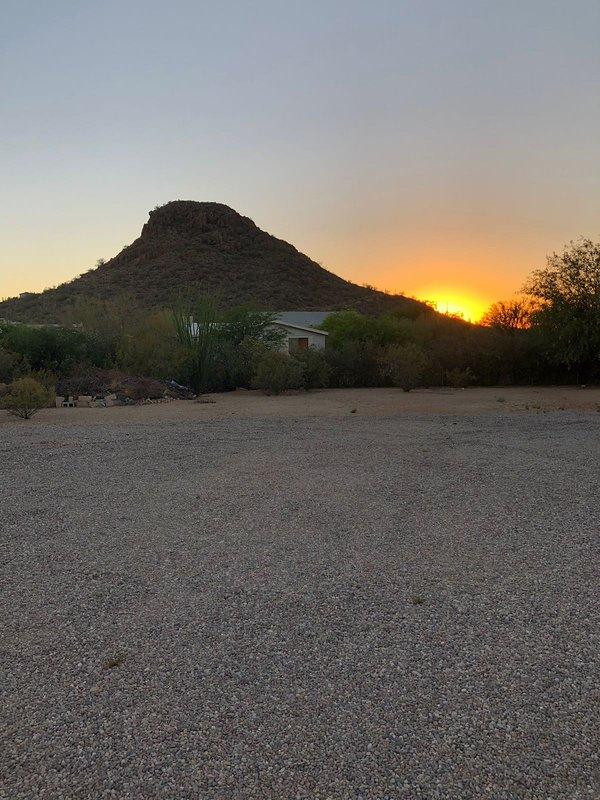 Typical southwestern Arizona sunset, looking west from the front of the house