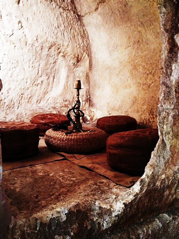 Inside cave house