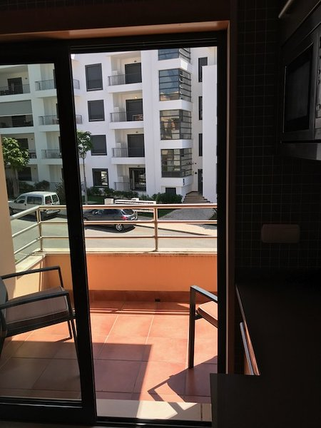 Balcony off Kitchen to front of Property