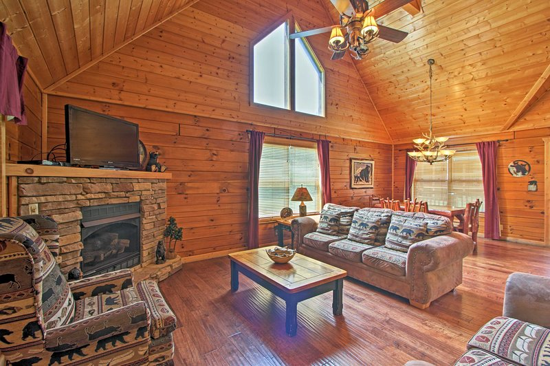 Pigeon Forge attractions await from this wonderful vacation rental cabin.