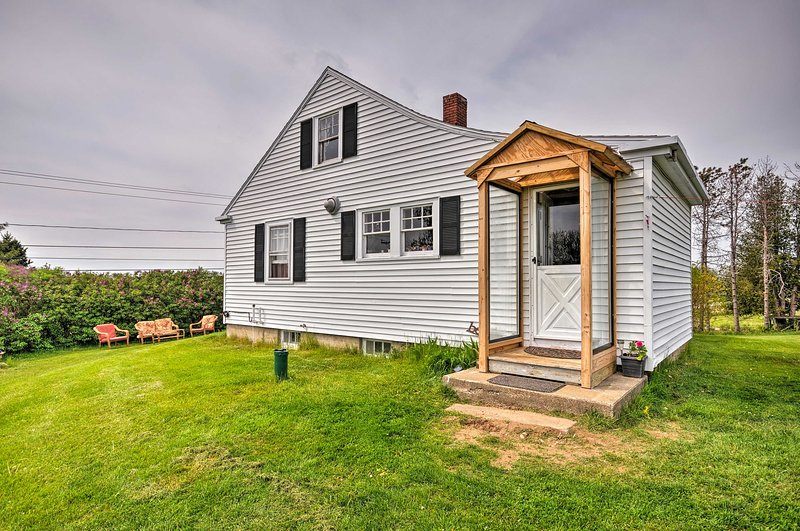 You'll feel right at home in the quaint 2-bedroom, 1-bathroom house.